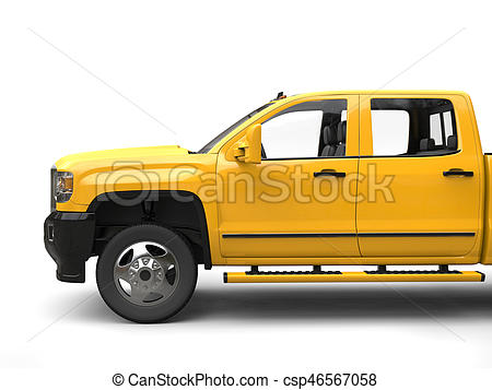 450x357 Sun Yellow Modern Pickup Truck