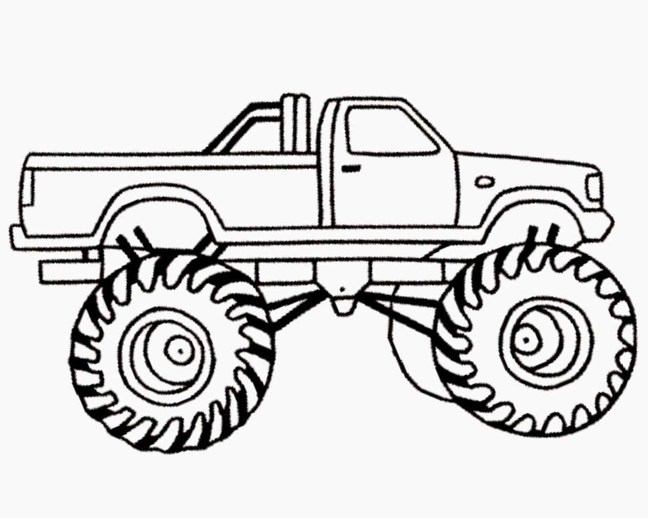 1264x1011 Easy Monster Truck Drawing Side View At Getscom Free For Personal