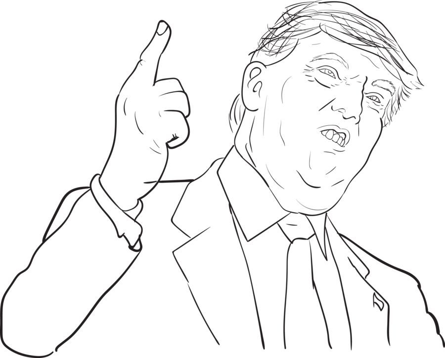 900x725 Donald Trump Coloring Pages Christschurchfwb Find Here More