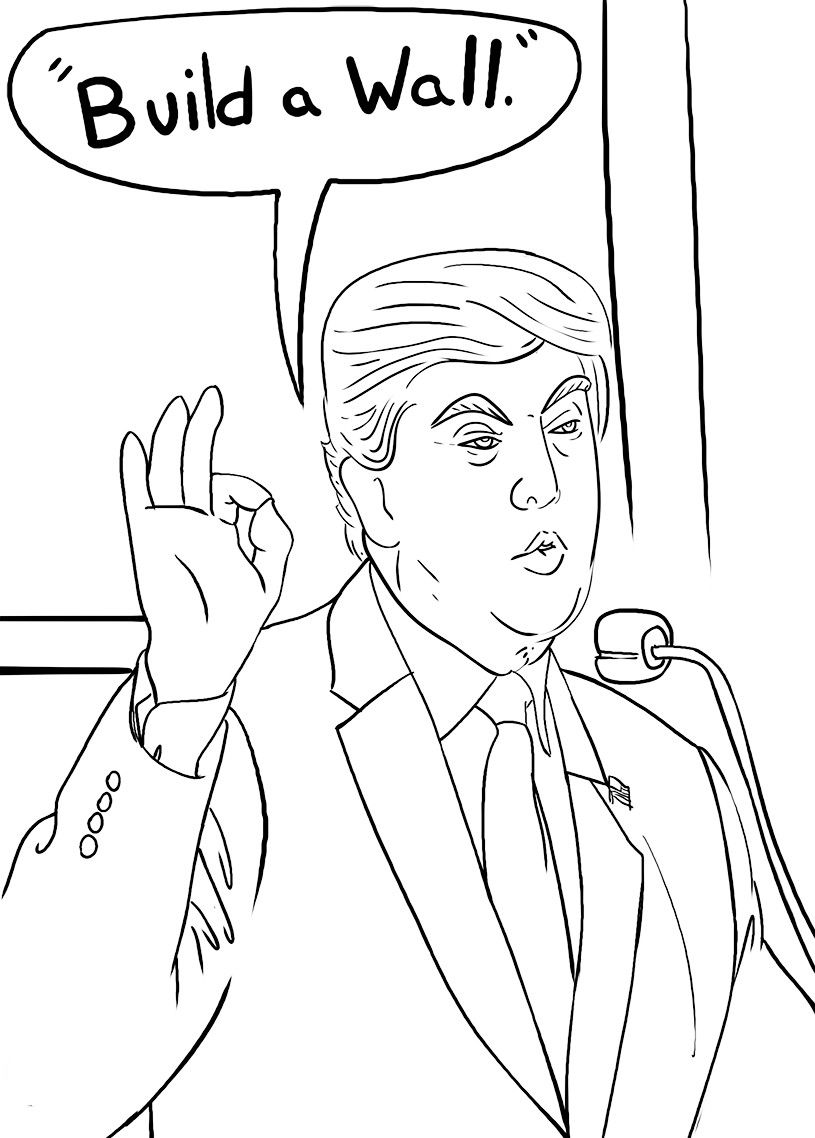 815x1138 Popular Donald Trump Coloring Pages Insider Aw