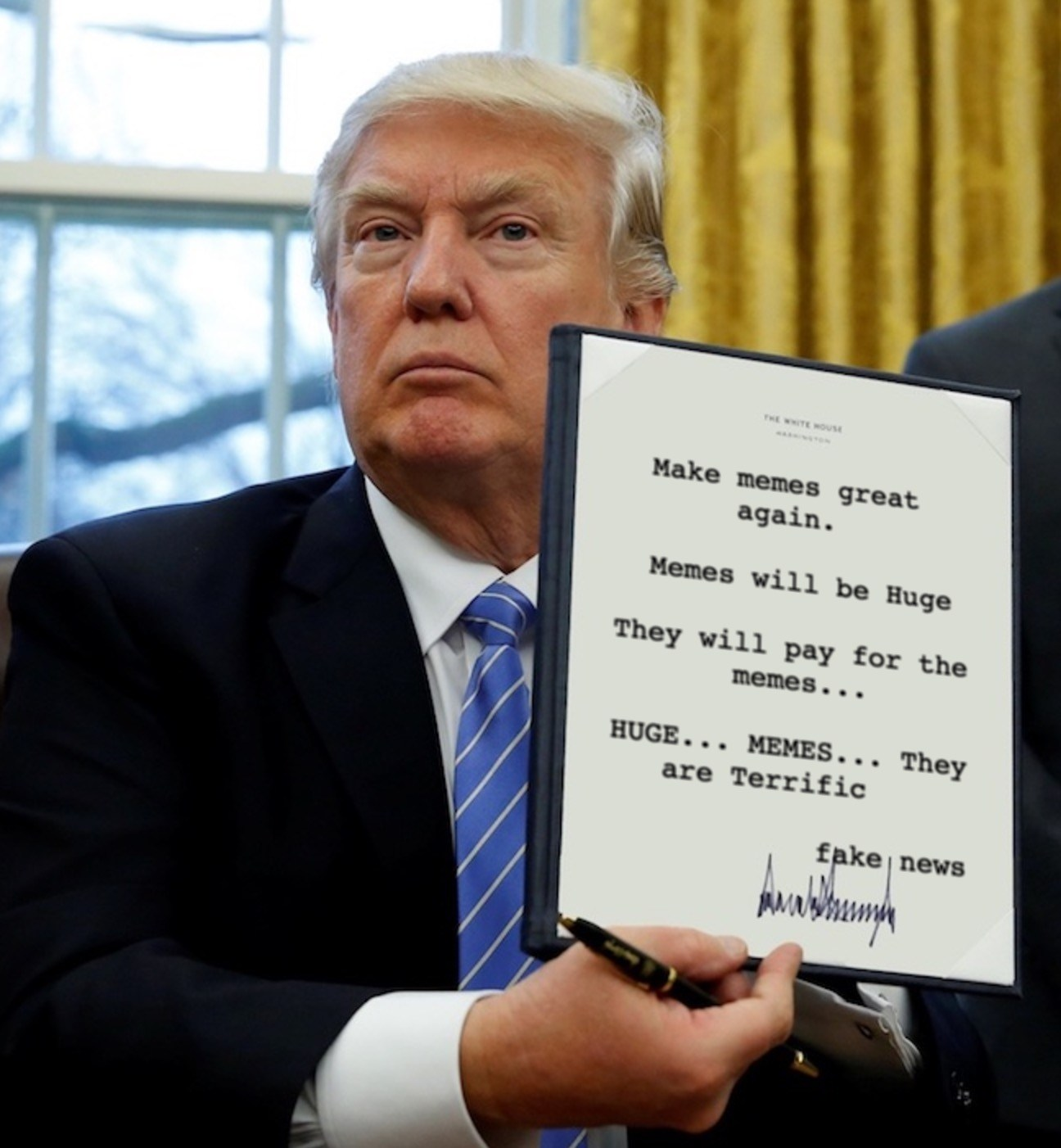 1296x1402 How To Make Your Own Donald Trump Executive Order Meme