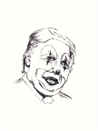 413x549 Collection Of Trump Clown Drawing High Quality, Free