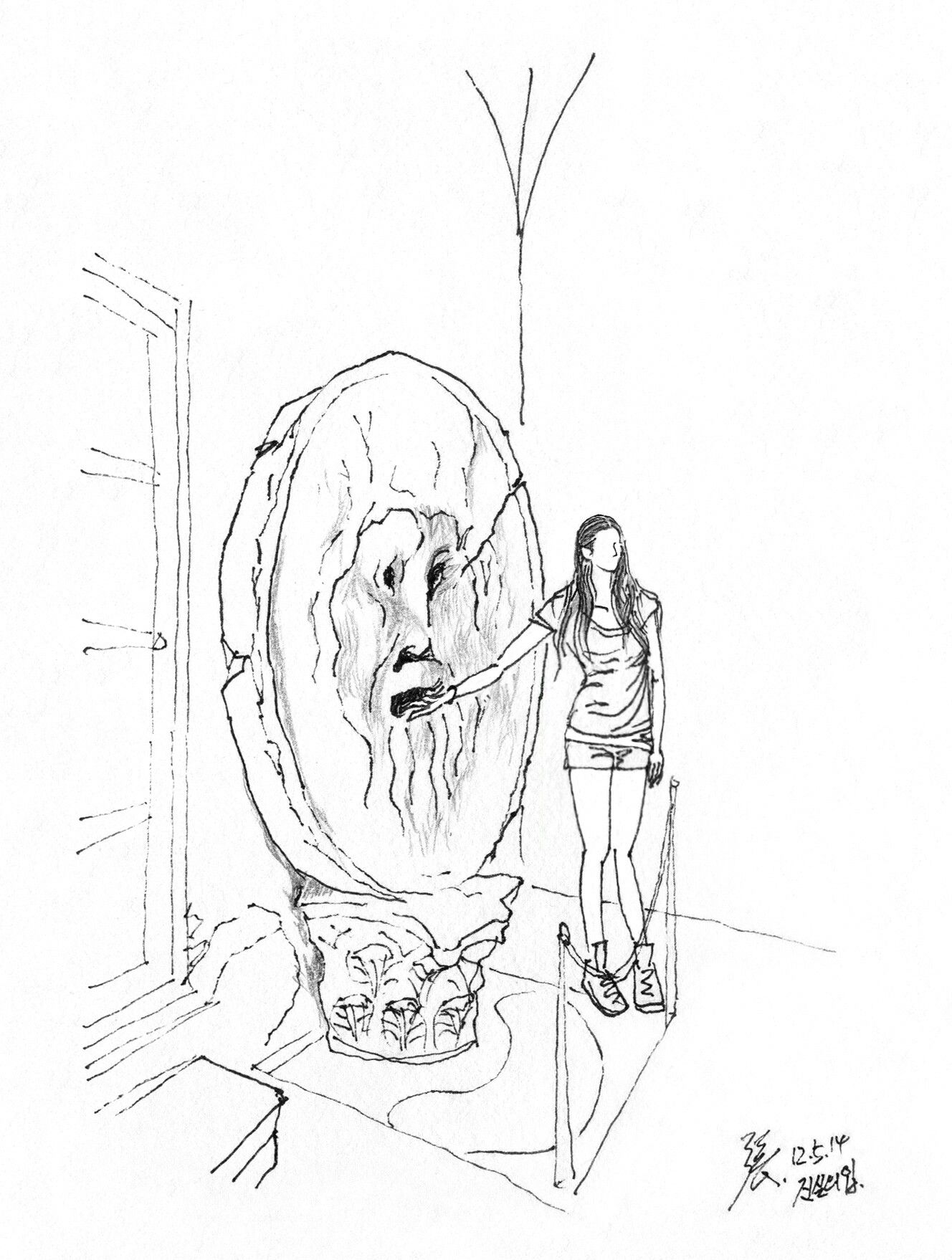 1328x1758 Mouth Of Truth @ Rome, Italy, 20120514 Sketch By Youngdong Jang