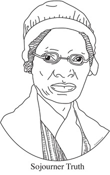 220x350 Sojourner Truth Realistic Clip Art, Coloring Page And Poster By