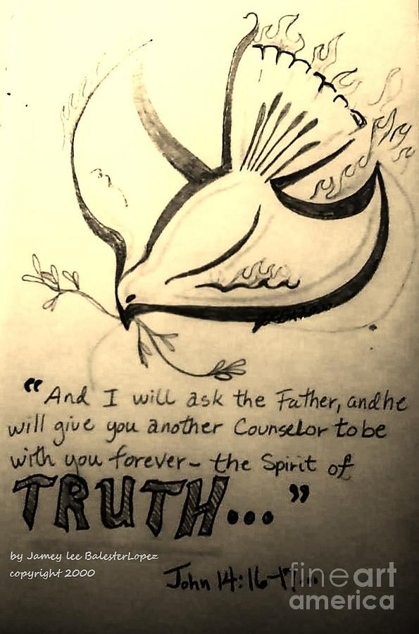 595x900 The Spirit Of Truth Drawing By Jamey Balester Bible Journaling