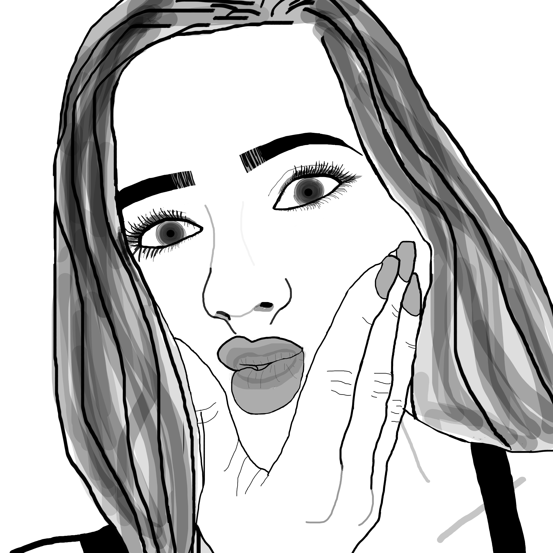 2448x2448 Drawings Drawing Ideas Tumblr Girl Drawings Best Of Tumblr Girl