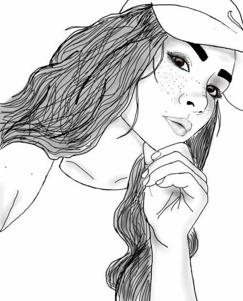 500x617 Girl, Outline, And Tumblr Image