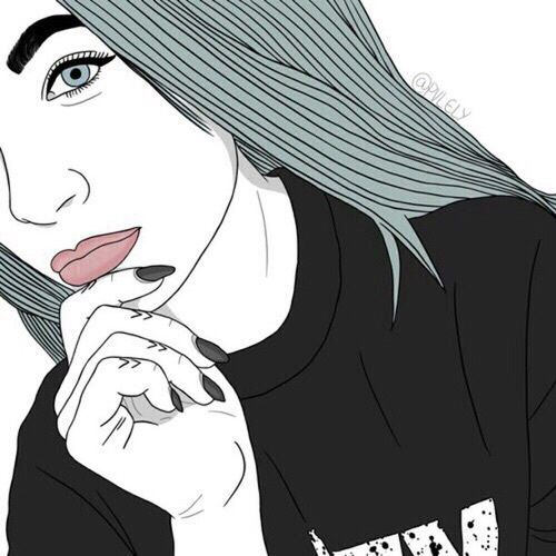 500x500 779 Best Tumblr Outlines Images On Girl Drawings