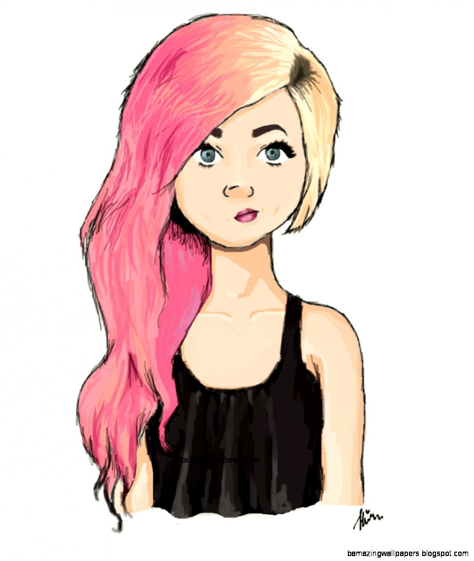 Tumblr Drawing Girl At Getdrawingscom Free For Personal