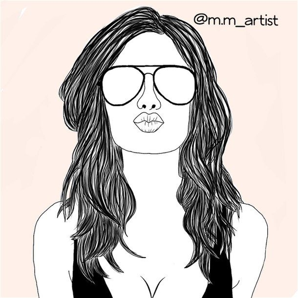 610x610 Pictures Girl Glasses Sketch Tumblr,