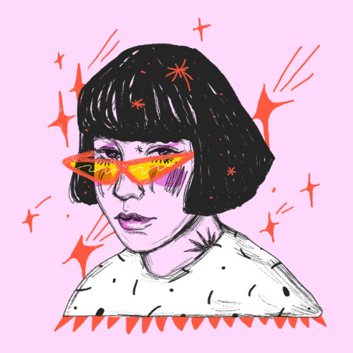 500x500 Girl With Sunglasses Draw Tumblr