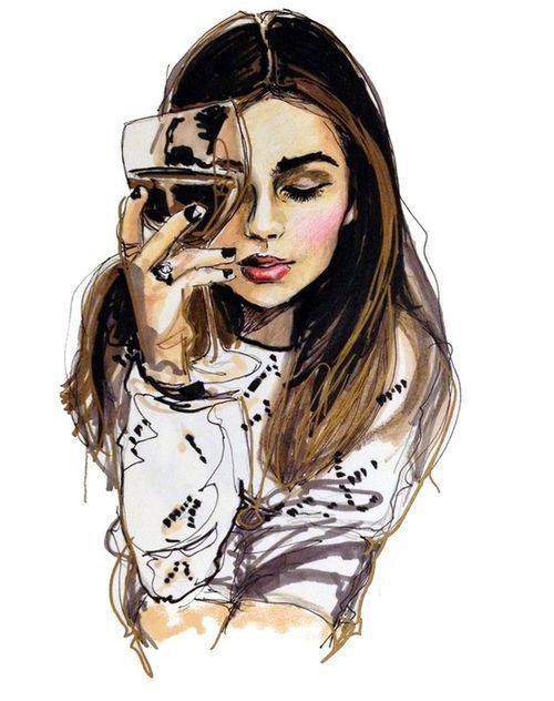 Tumblr Hipster Girl Drawing At Getdrawings Com Free For Personal