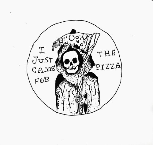 500x475 Drawing Death Art Design Tattoo Pizza Stippling Radical Rad