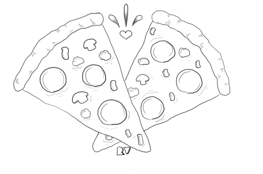 900x596 Collection Of Pizza Drawing Png High Quality, Free Cliparts