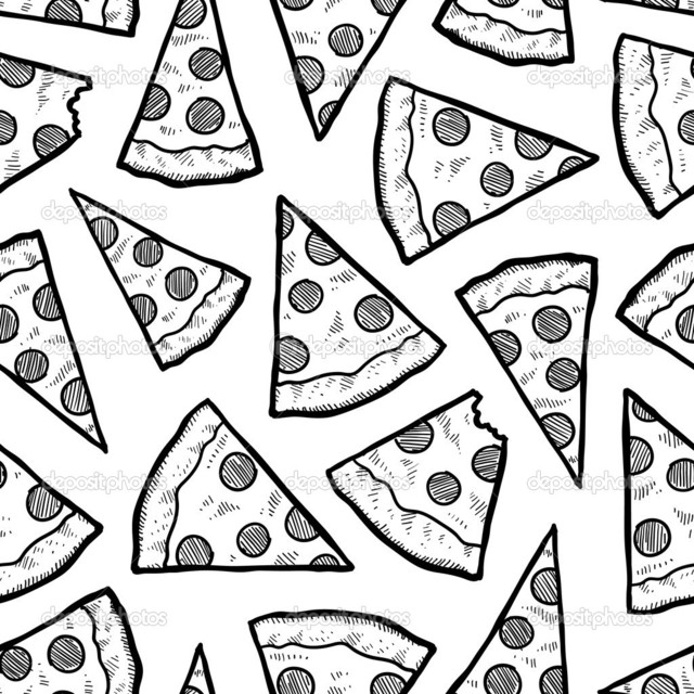 640x640 Collection Of Tumblr Pizza Drawing High Quality, Free