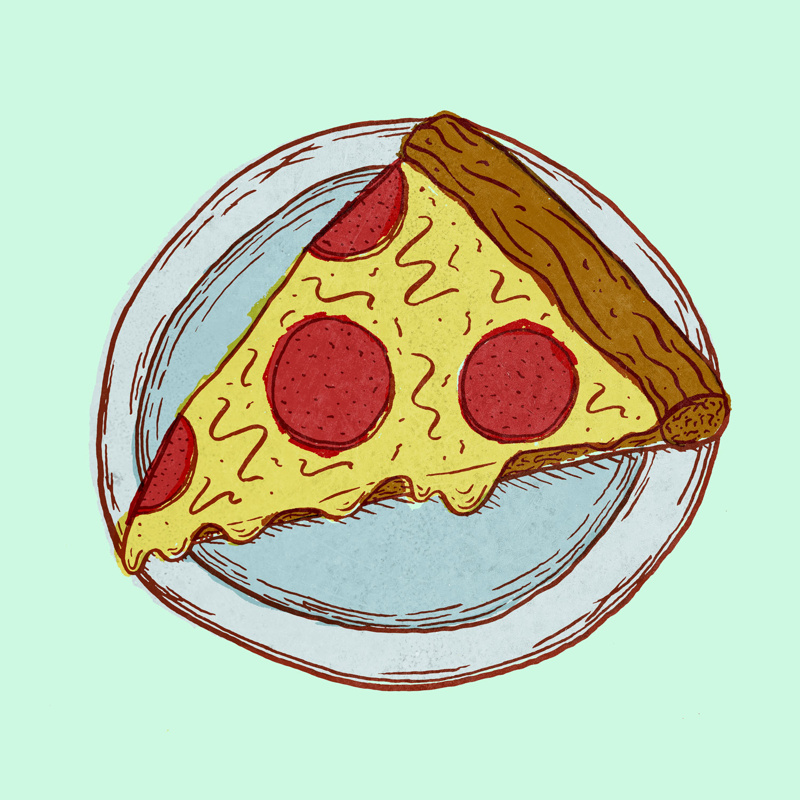 800x800 Collection Of Pizza Slice Drawing Tumblr High Quality, Free