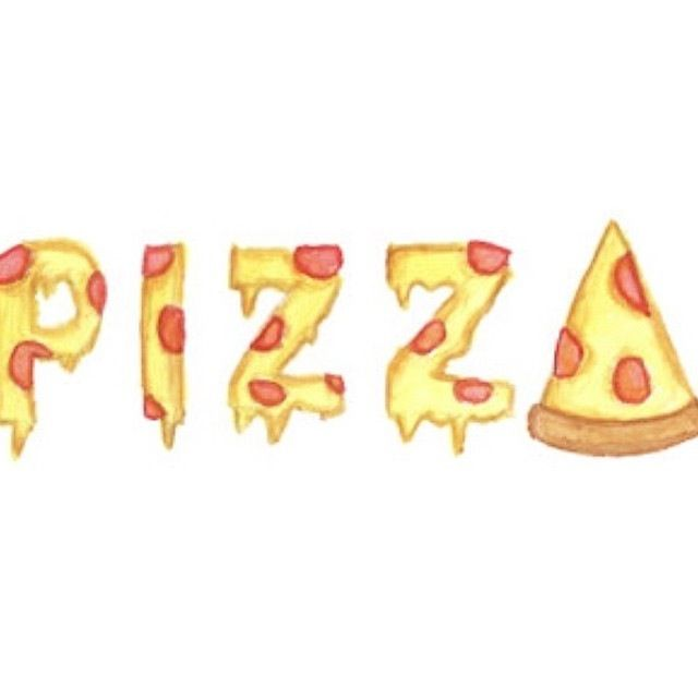 640x619 Collection Of Tumblr Pizza Drawing High Quality, Free