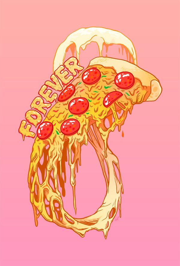 599x881 Pizza Drawing Tumblr