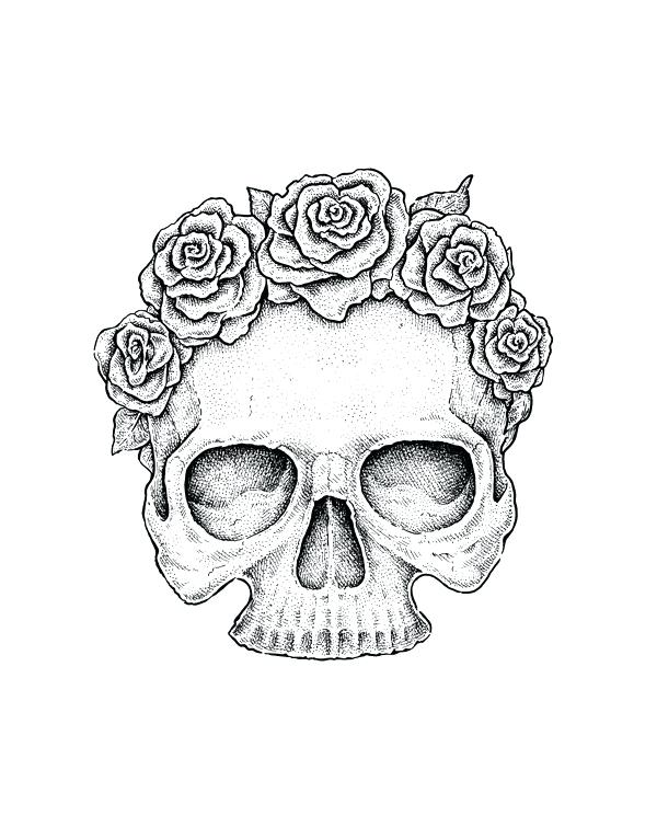 Tumblr Skull Drawing at GetDrawings | Free download