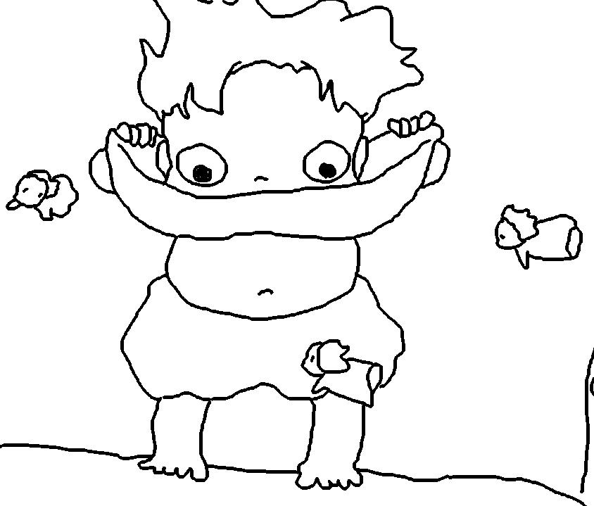 844x719 Ponyo's Tummy Button Sketch By Mysteriousman618