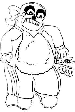 320x473 Sans Is Fat., Day 25 Draw Them With A Loud, Rumbling Hungry