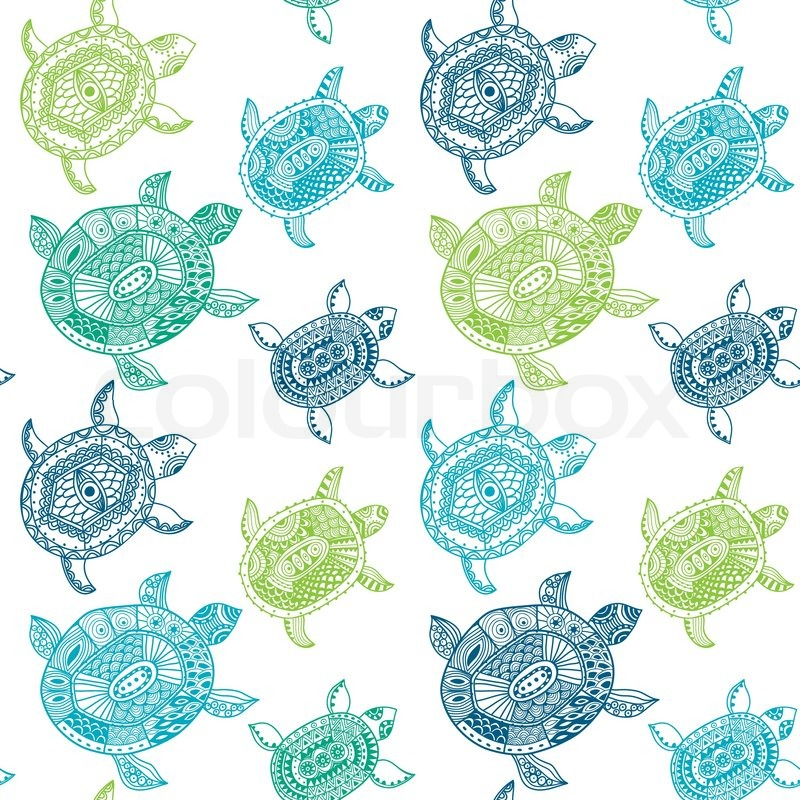 800x800 Seamless Pattern With Turtles. Seamless Pattern Can Be Used