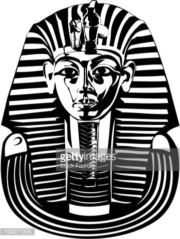 Tutankhamun Mask Drawing