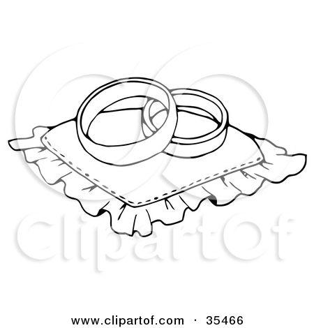 Two Wedding Rings Drawing