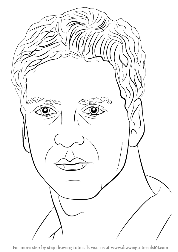 596x842 Learn How To Draw Akshay Kumar (Celebrities) Step By Step