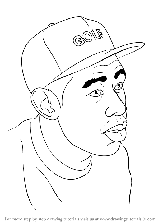 598x844 Learn How To Draw Tyler, The Creator (Celebrities) Step By Step