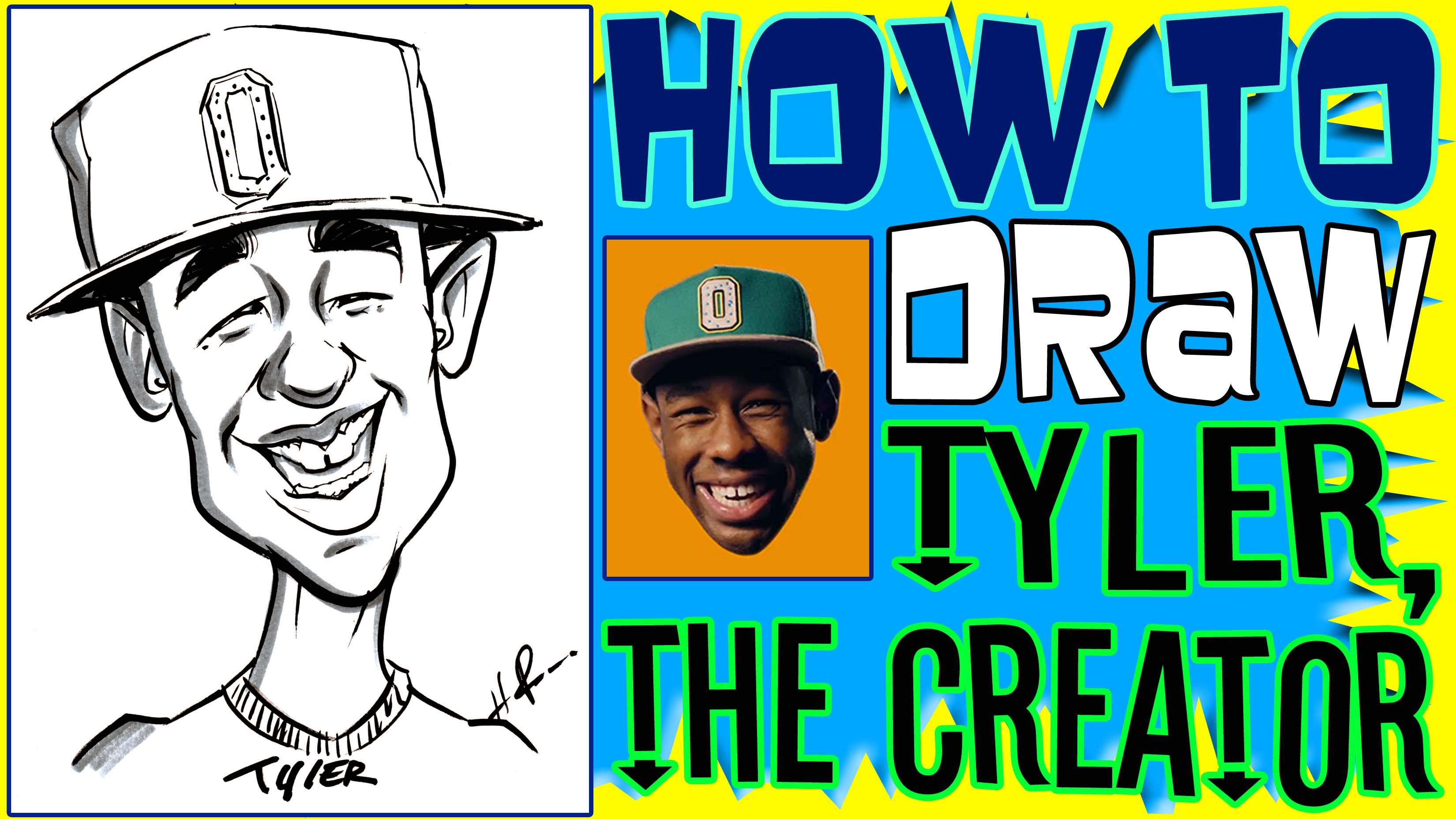 3300x1856 How To Draw A Quick Caricature Tyler The Creator
