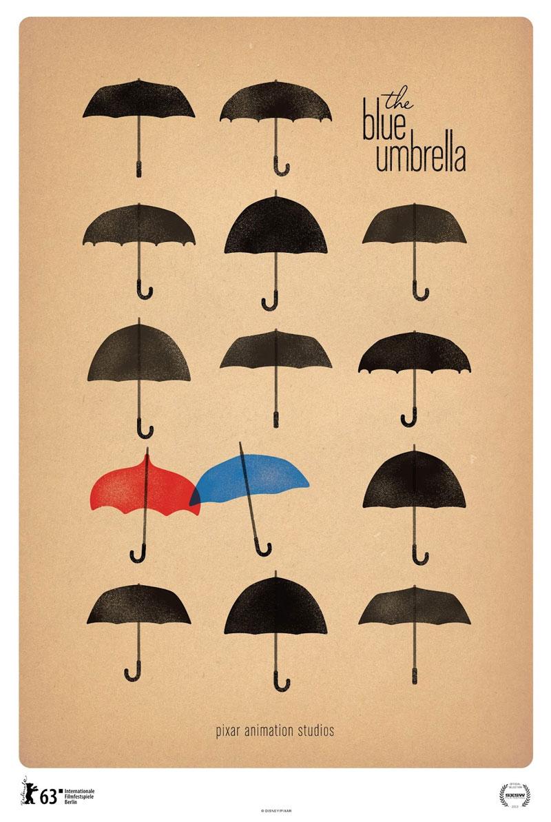 800x1193 Artes Do Curta The Blue Umbrella, Da Disneypixar Thecab
