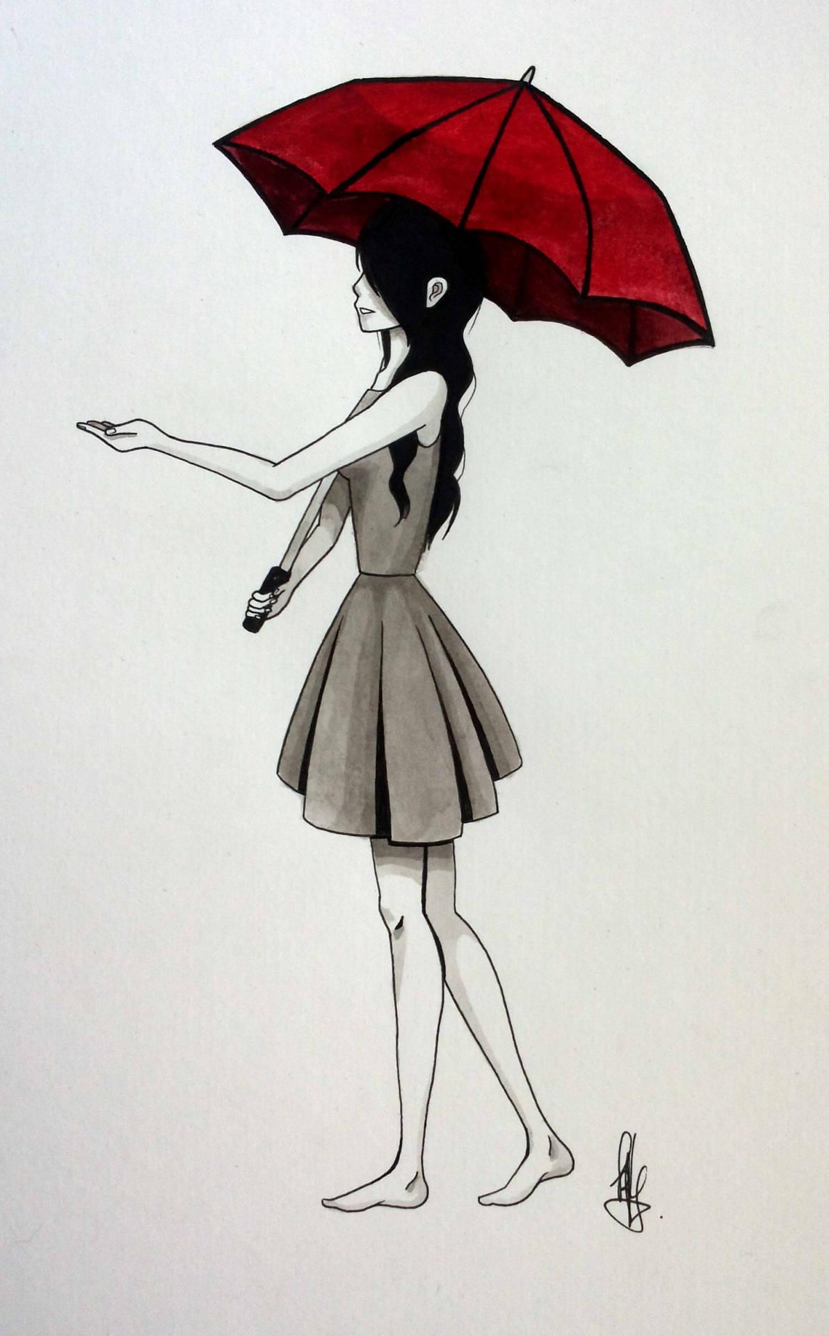 1192x1920 The Red Umbrella A Mayday Parade Inspired Drawing