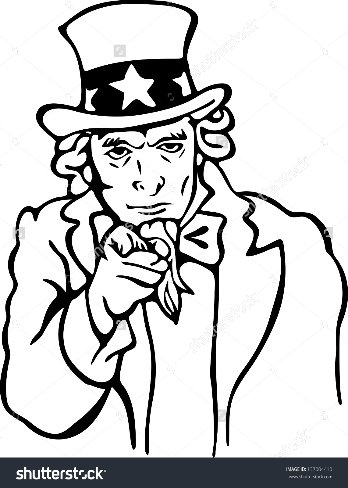 Uncle Sam Full Body Drawing