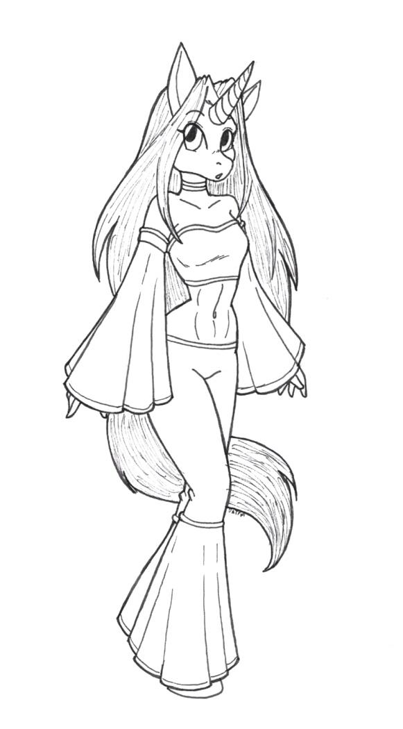Unicorn Girl Drawing