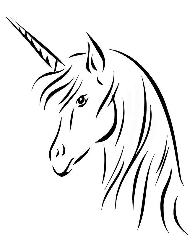 Unicorn Head Drawing Easy