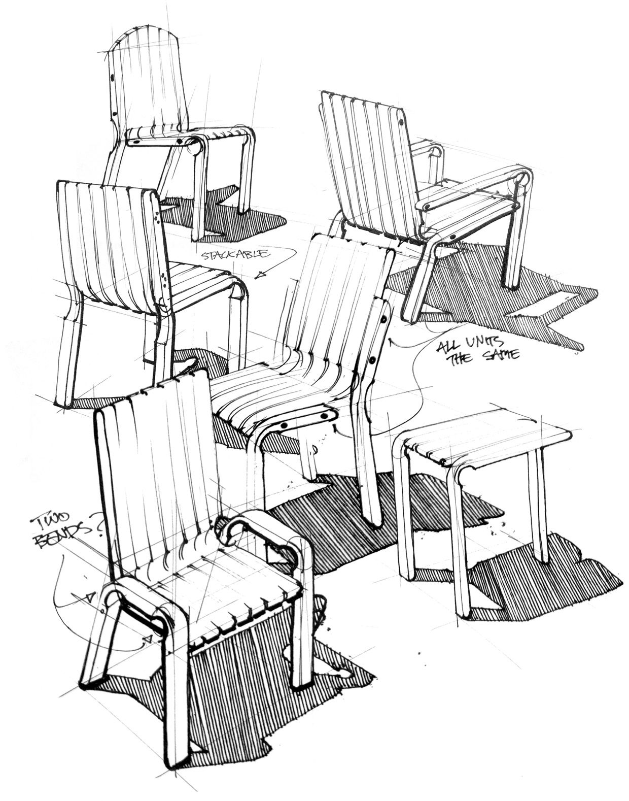 1240x1578 Unit Chair On Behance Design Behance, Sketches