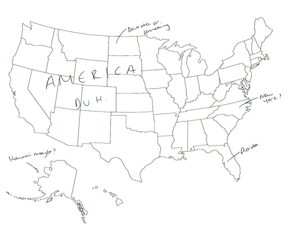 United States Outline Drawing