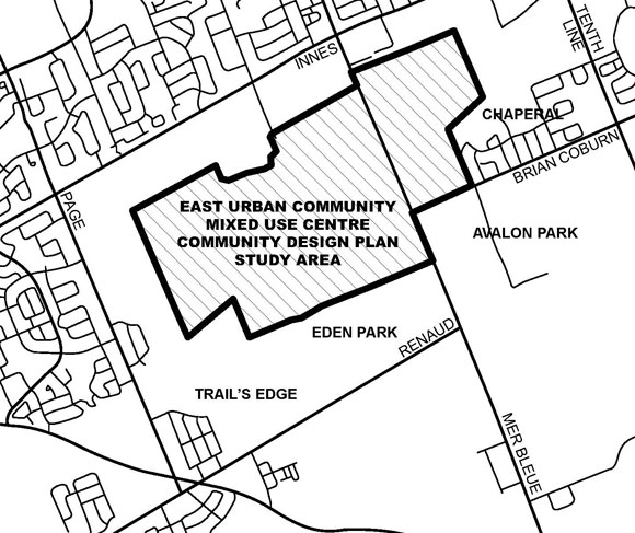 580x487 East Urban Community Mixed Use Centre Community Design Plan City