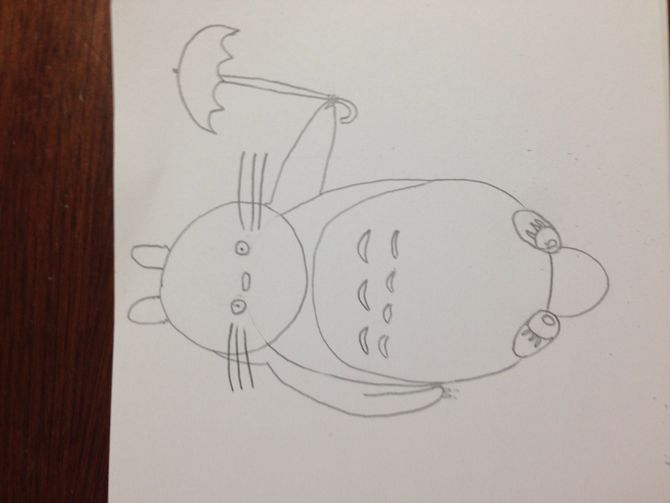 670x503 How To Draw Totoro 14 Steps (With Pictures)