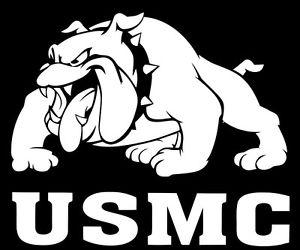 MARINE CORP USMC DEVIL DOG Sticker Marines Military Car Decal Vinyl Bull Dog