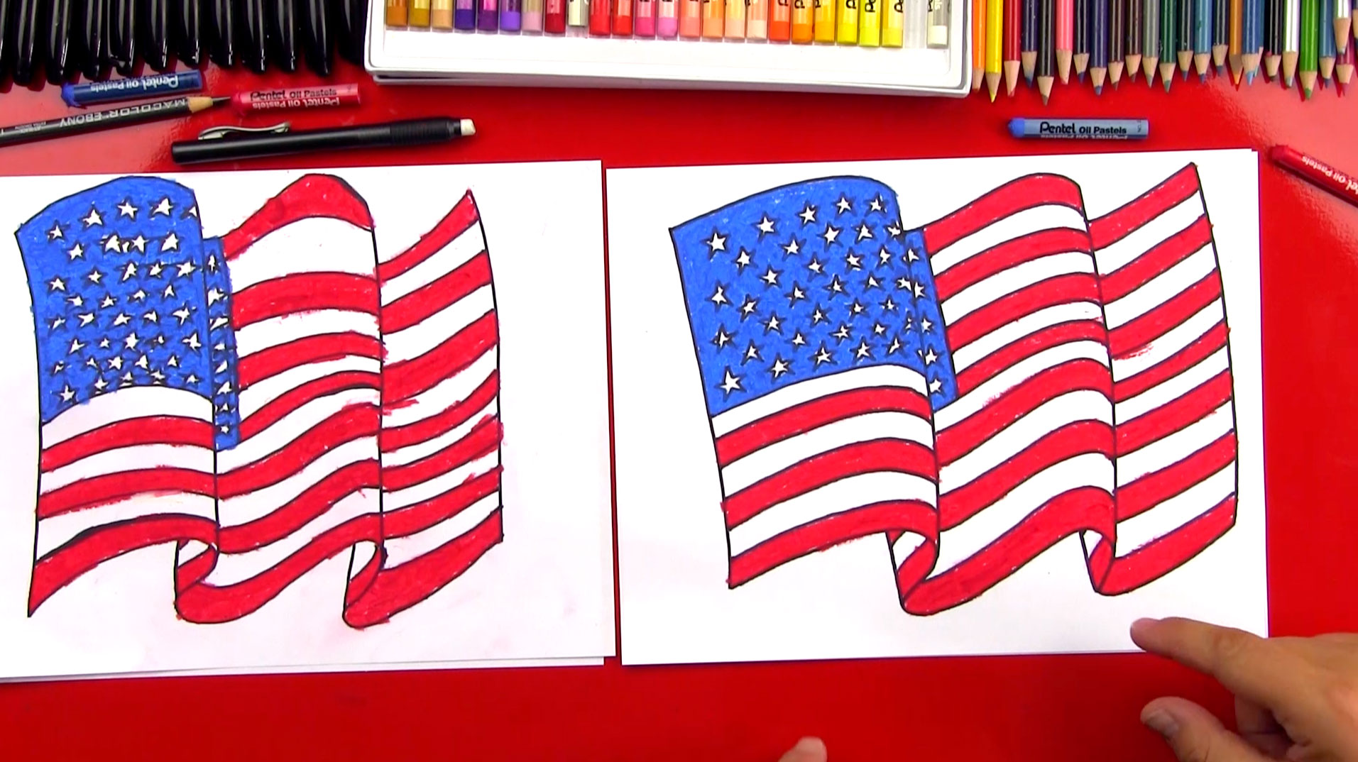 1913x1074 How To Draw The American Flag