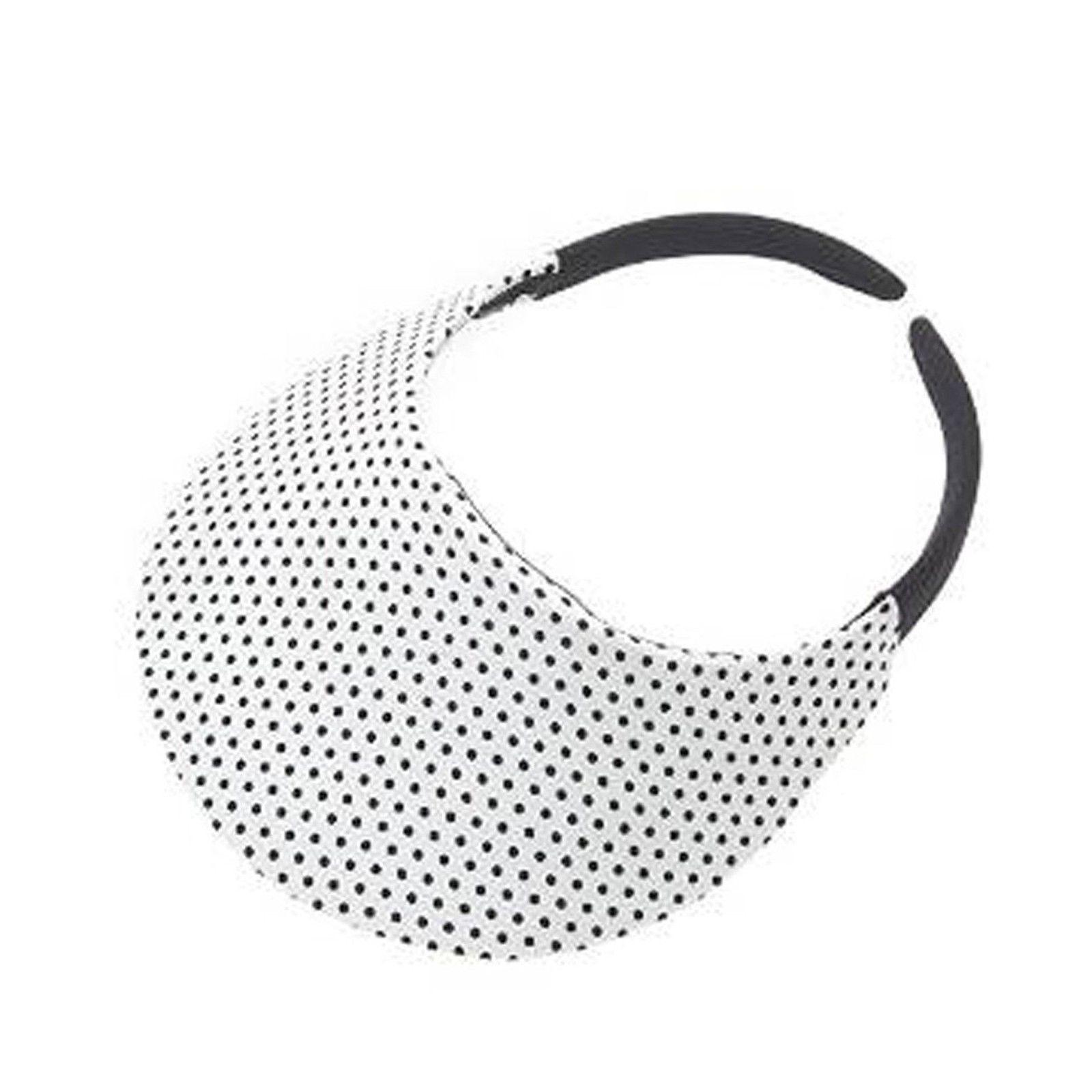 1600x1600 The No Headache Midsize Womens Sun Visor Hat (White Dot) Ebay 26f321dbd07