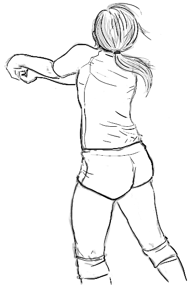 Volleyball Girl Drawing