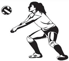 234x205 Volleyball Clipart Female Volleyball Player