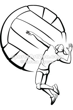 250x375 Female Volleyball Player Spiking Volleyball Ideas By Renee