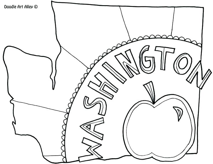 736x568 Washington State Coloring Pages State Coloring Pages State