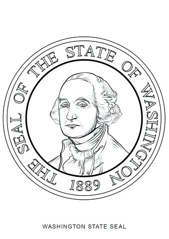 340x480 Washington State Coloring Pages State Seal Coloring Page Wa State