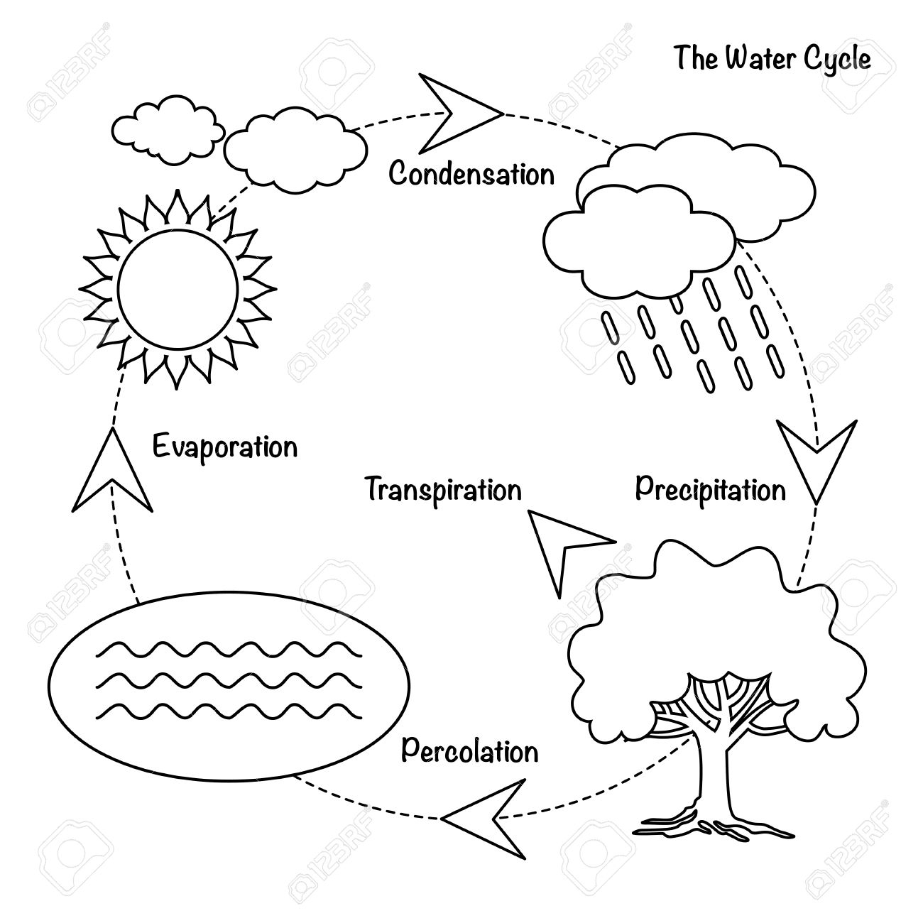 water cycle drawing assignment at getdrawings com