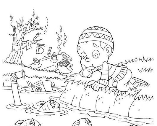 531x425 Water Pollution Coloring Pages Coloring Page Water Pollution